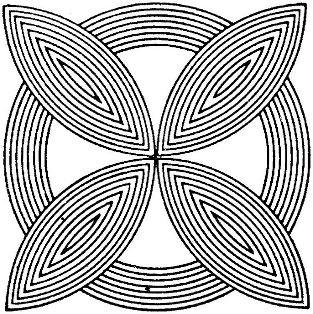 download geometric coloring pages 18 - Geometric Coloring Pages