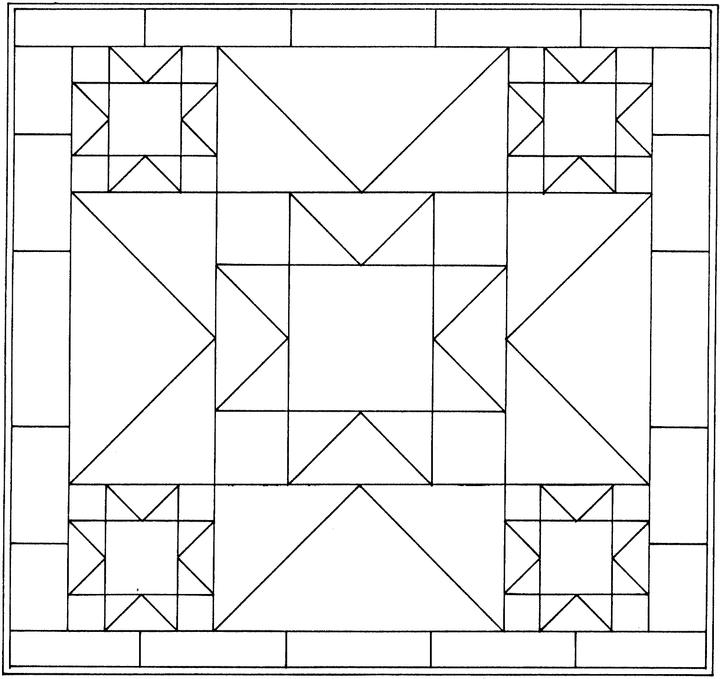 Geometric Coloring Pages (21) - Coloring Kids