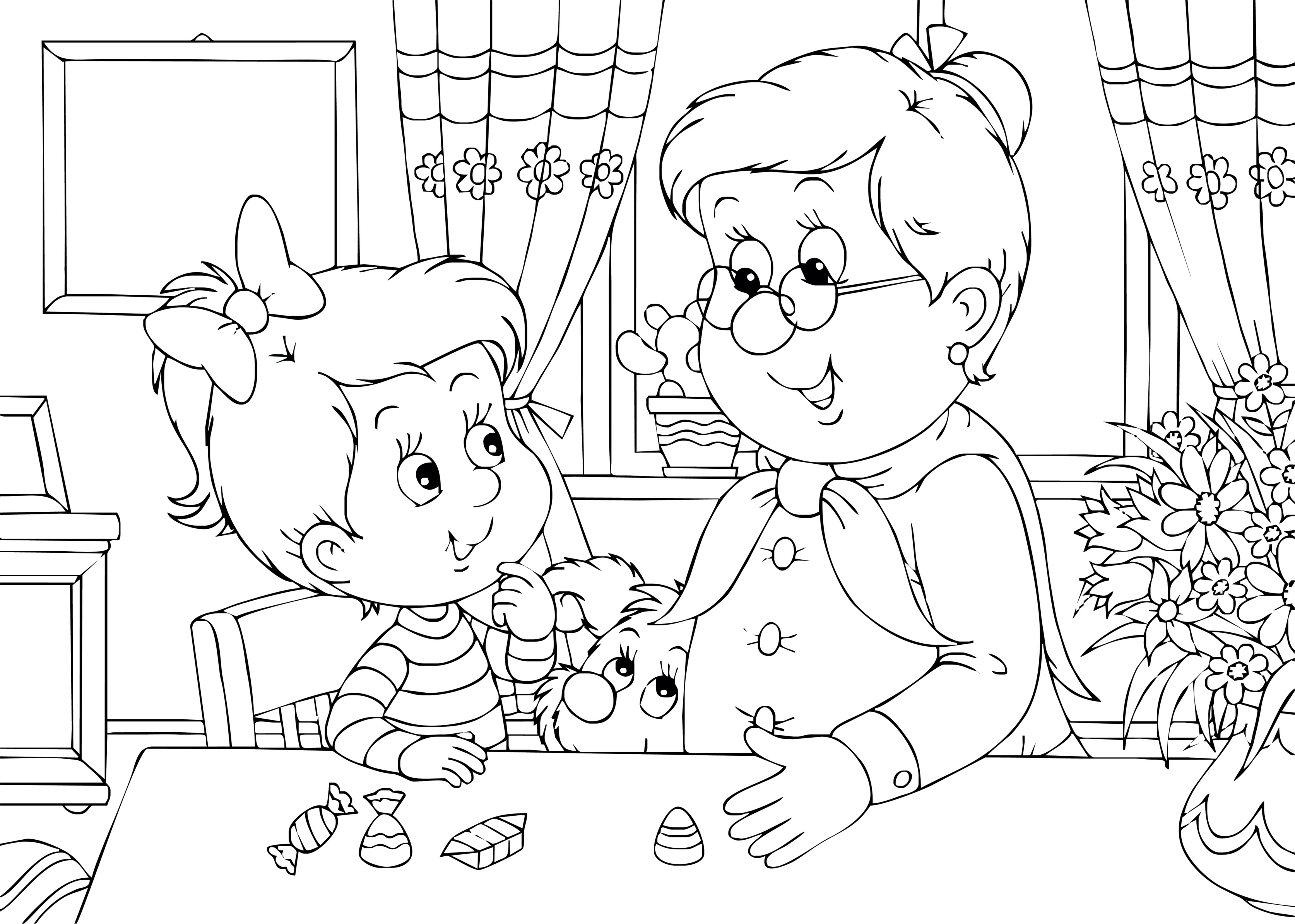 download grandparents day coloring pages free download texas life