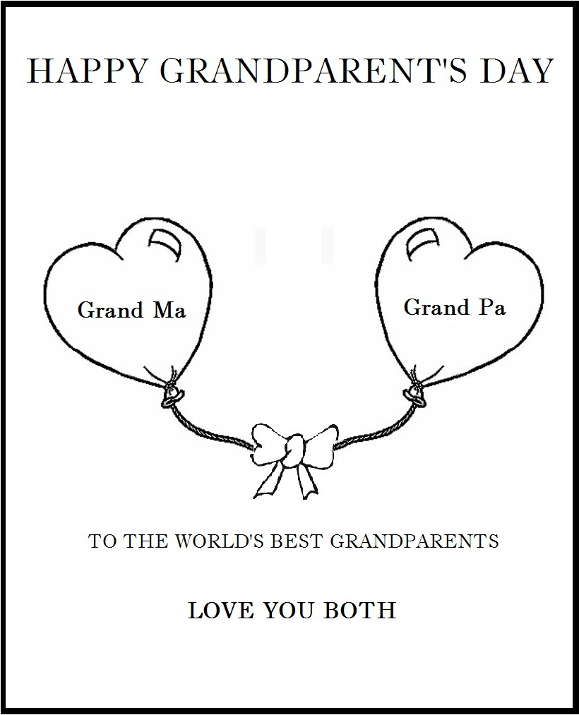 Grandparent S Day Coloring Pages Coloring Kids