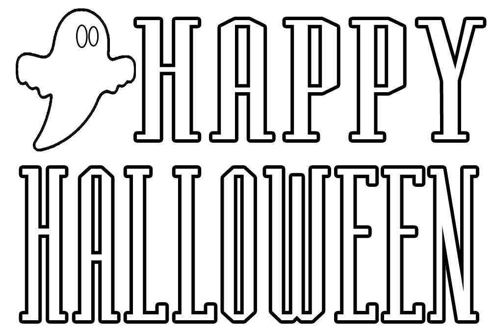 download halloween coloring pages 1 - Halloween Color Pages