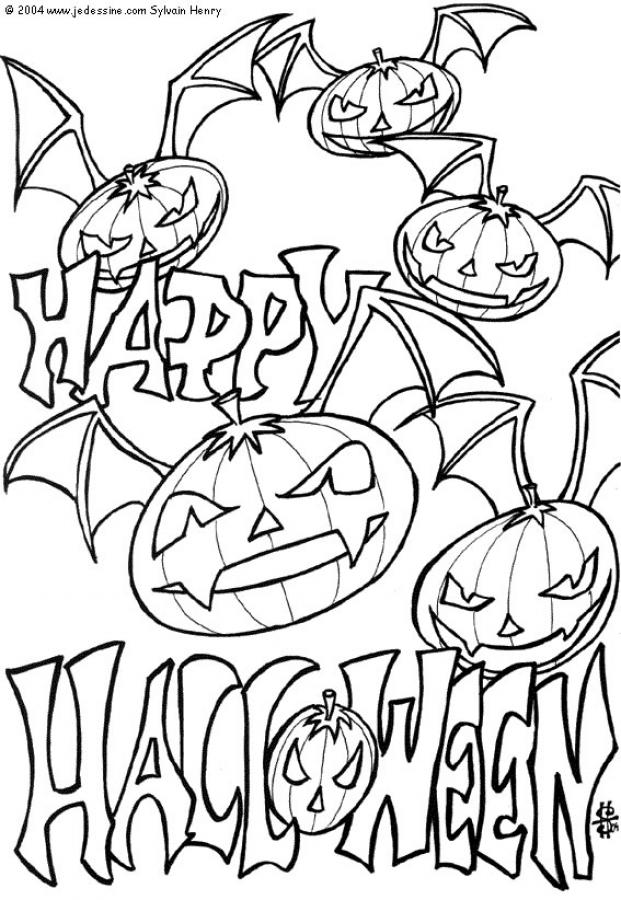 download halloween coloring pages 18 print - Halloween Coloring Pages To Print