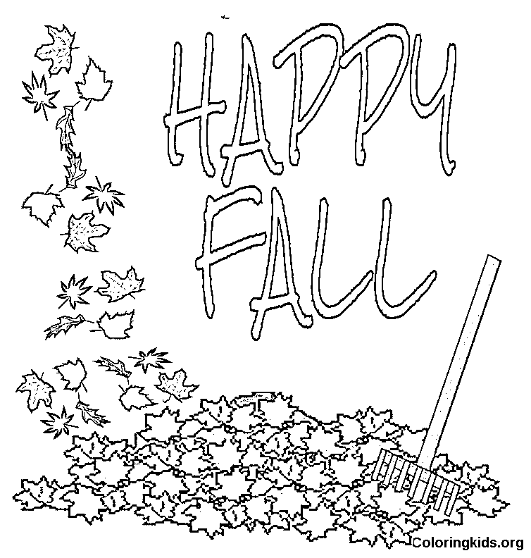 autumn coloring pages images - photo#45