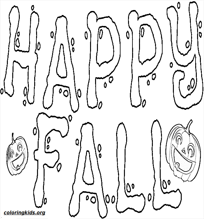 happy-fall-pumpkin-coloringkids.org | Coloring Kids