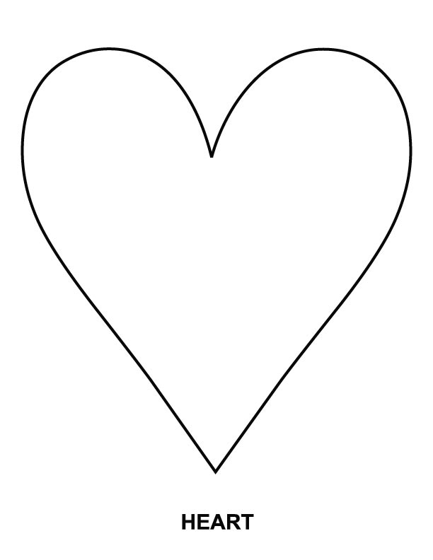 the heart coloring pages - photo #9