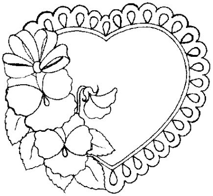 Download Heart Coloring Pages 6 Print