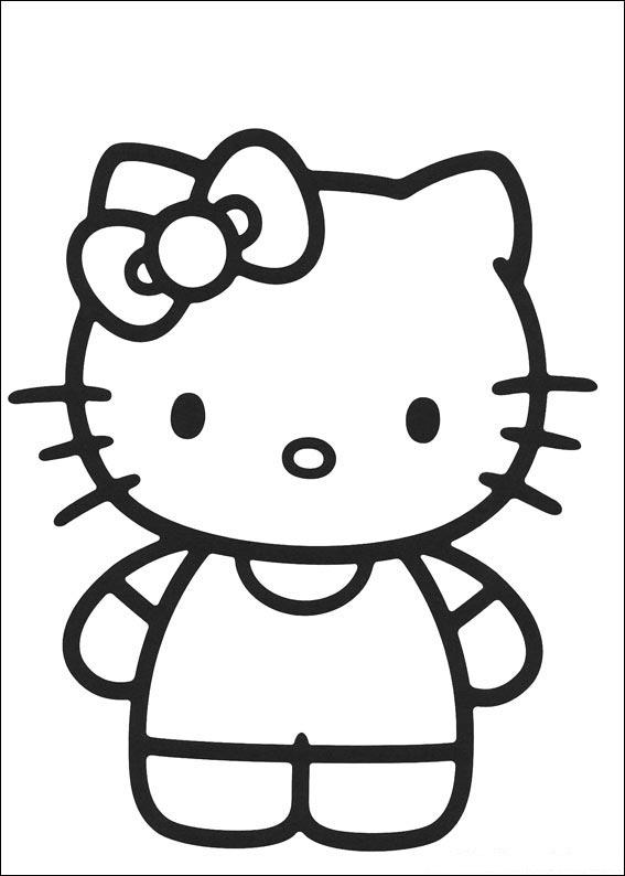 Download Hello Kitty Coloring Pages 1