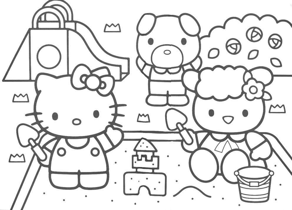 Download Hello Kitty Coloring Pages 12