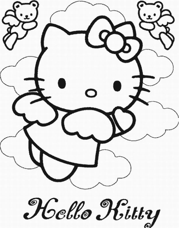 Free hello kitty coloring pages image source