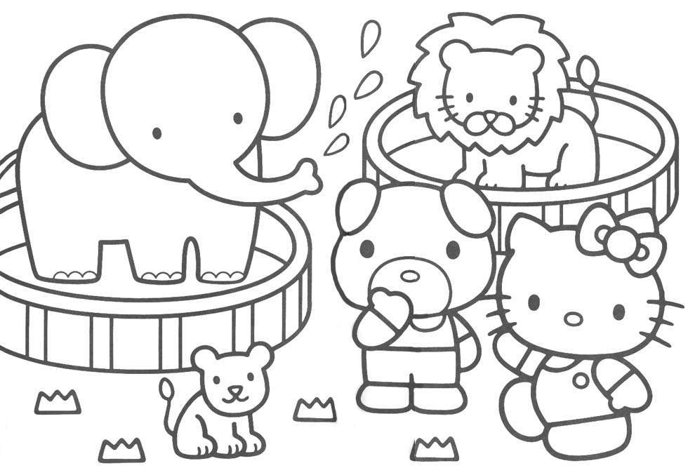 download hello kitty coloring pages 17