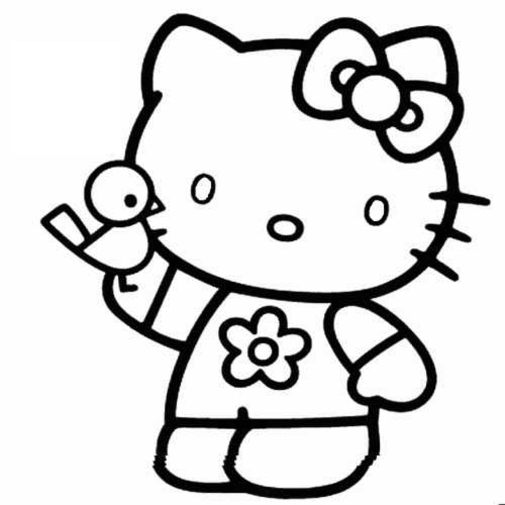 download hello kitty coloring pages 2 - Kitty Coloring Pages