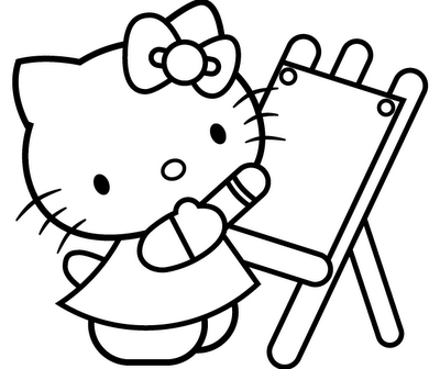 Download Hello Kitty Coloring Pages 4