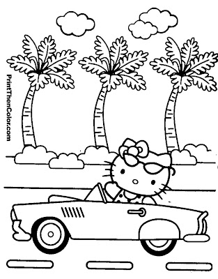 Hello Kitty Coloring Pages (7)
