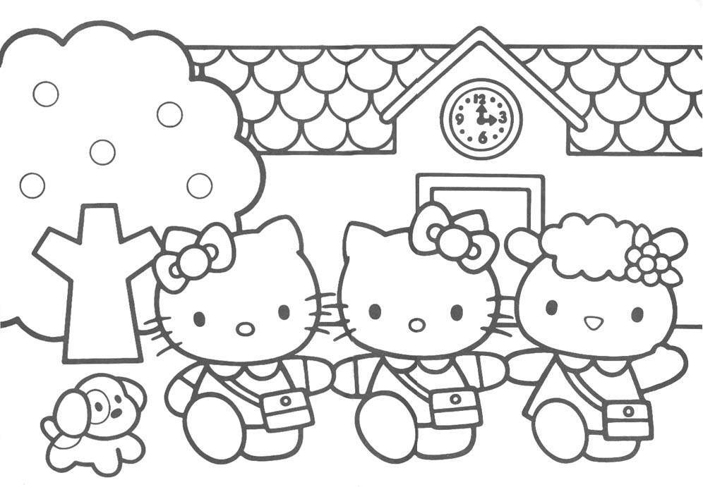 Download Hello Kitty Coloring Pages 9