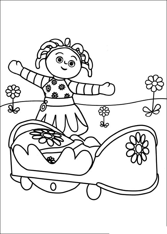 night garden coloring pages print - photo #18