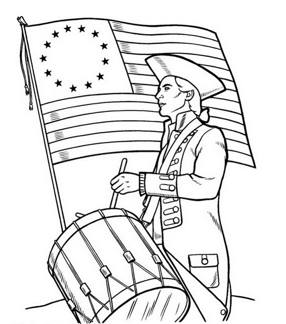 independence day coloring pages to print - independence day coloring pages july fourth 02 coloring kids
