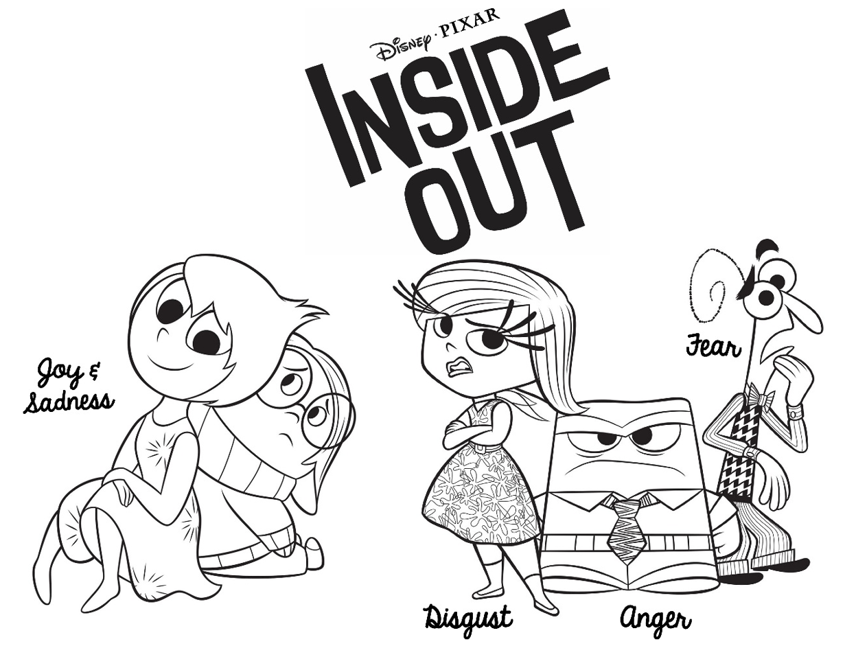 inside out coloring page dp | Coloring Kids