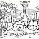 jungle coloring pages 11 140x140 Jungle Coloring Pages
