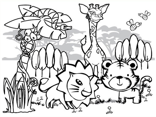 Jungle Coloring Pages 11 Coloring Kids