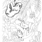 jungle coloring pages 12 140x140 Jungle Coloring Pages