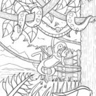 jungle coloring pages 13 140x140 Jungle Coloring Pages