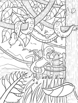 Jungle Coloring Pages 13 Coloring Kids