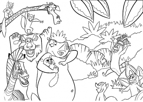 Jungle coloring pages 2 coloring kids for Jungle book coloring pages for kids
