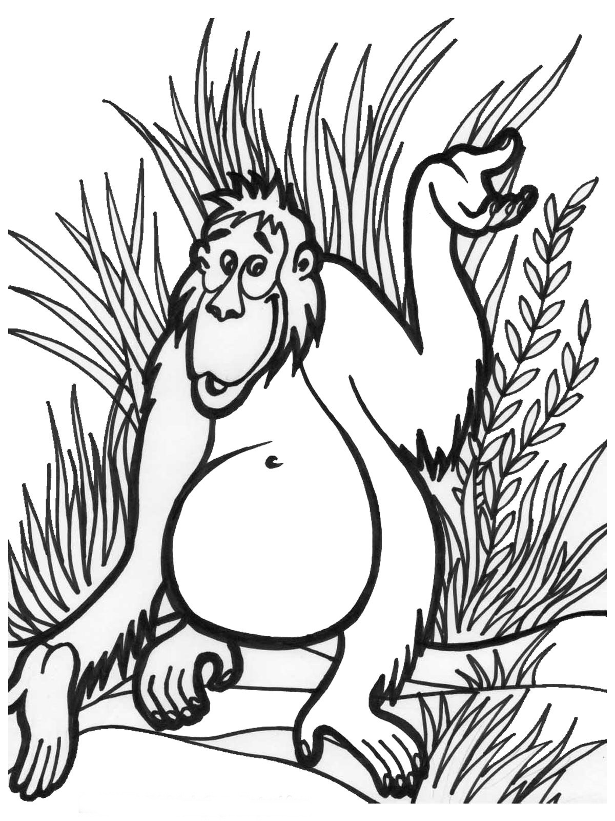 jungle coloring pages free printable - photo#15