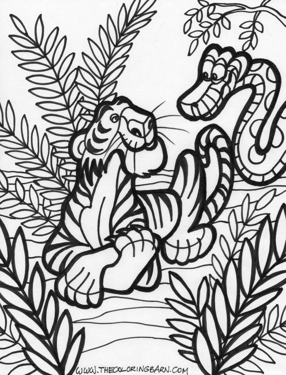 jungle coloring pages 9 coloring kids