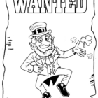 leprechaun coloring pages 1 140x140 Leprechaun Coloring Pages