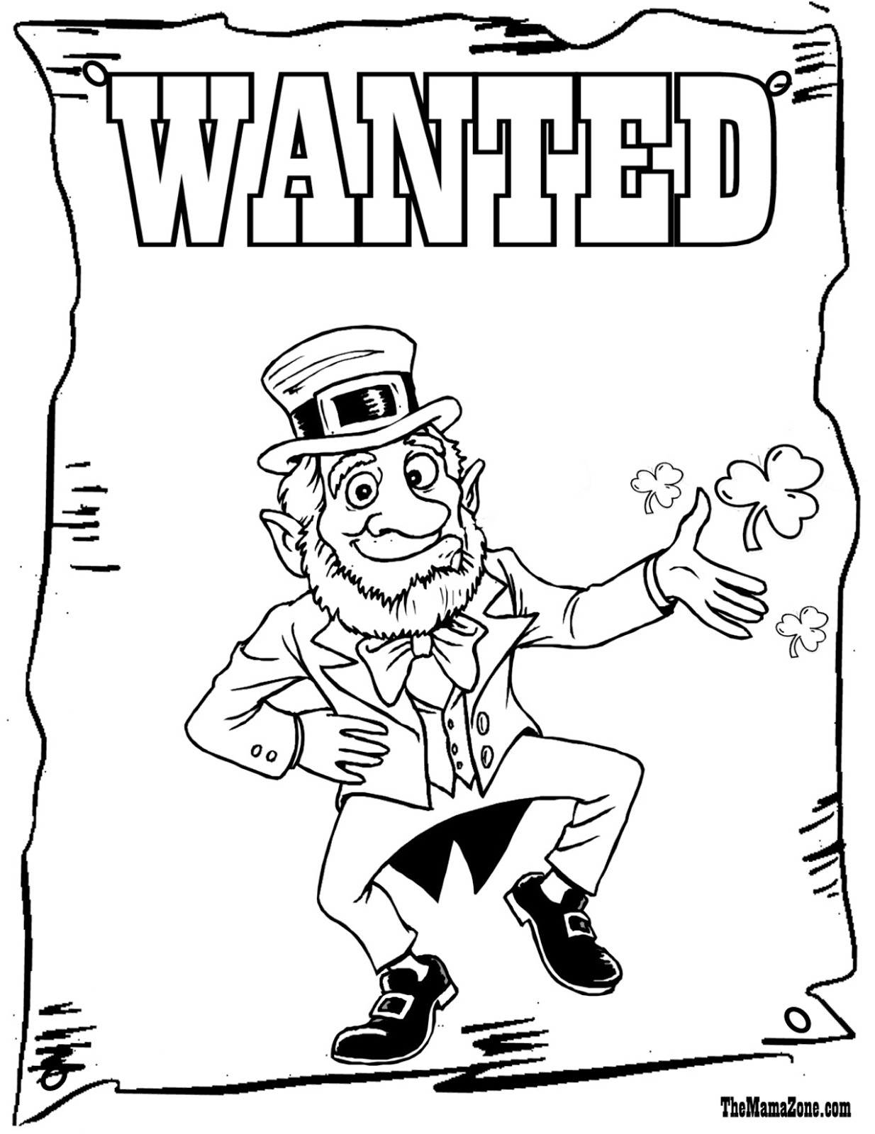 download leprechaun coloring pages 1