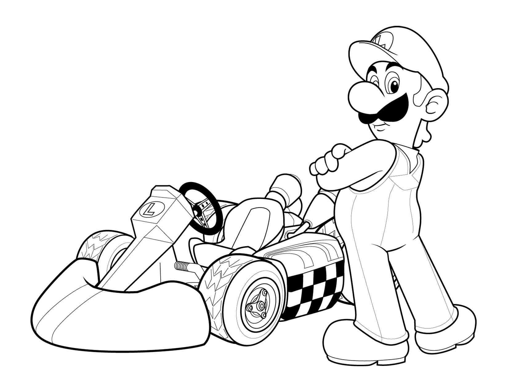 Free coloring pages cars for kids - Download Luigi Print Free Kids