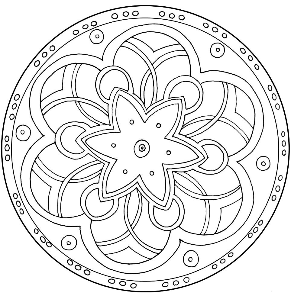 free coloring pages of mandalas - photo#19