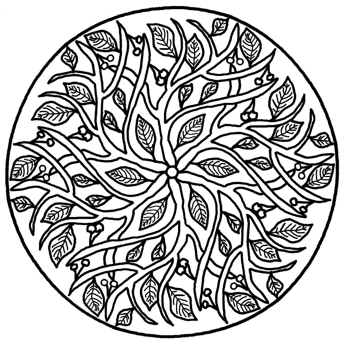 Colouring in pages mandala - Download Mandala Coloring Pages 9