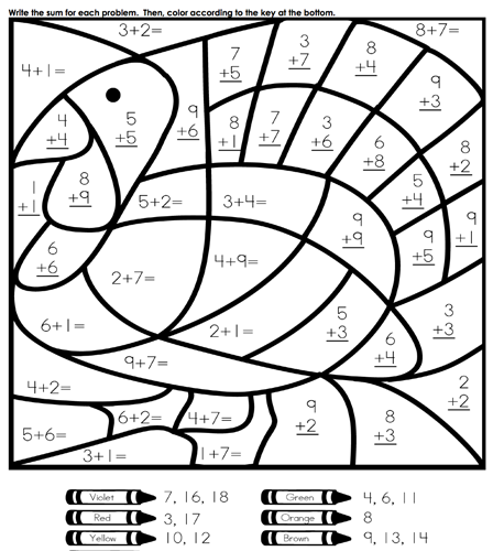 download math coloring pages 1