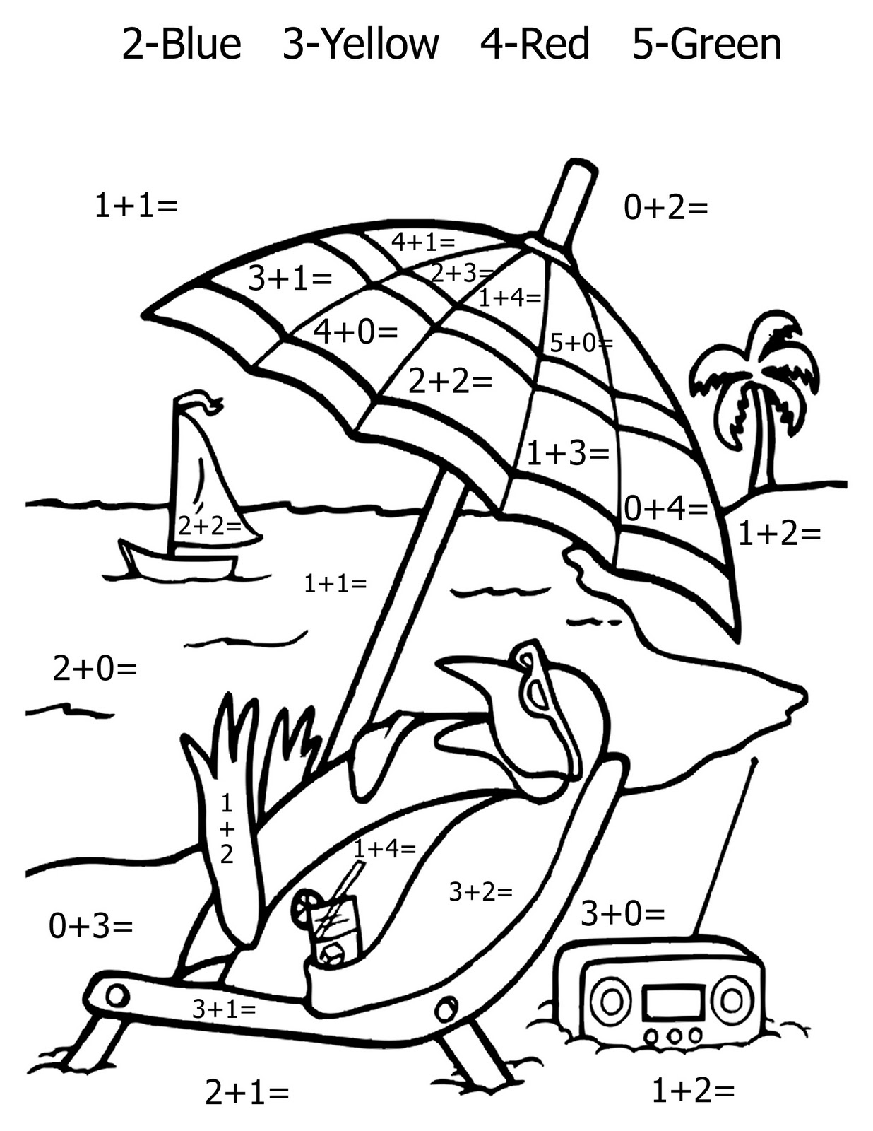 Math Coloring Pages 11 Coloring Kids – Addition Colouring Worksheets