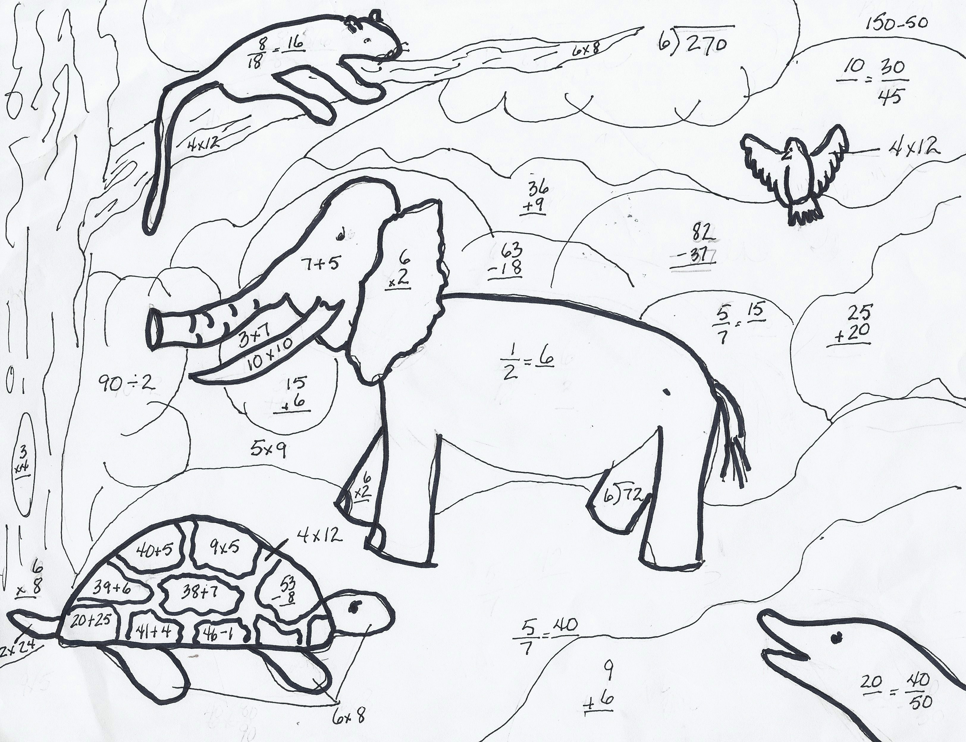 download math coloring pages 7