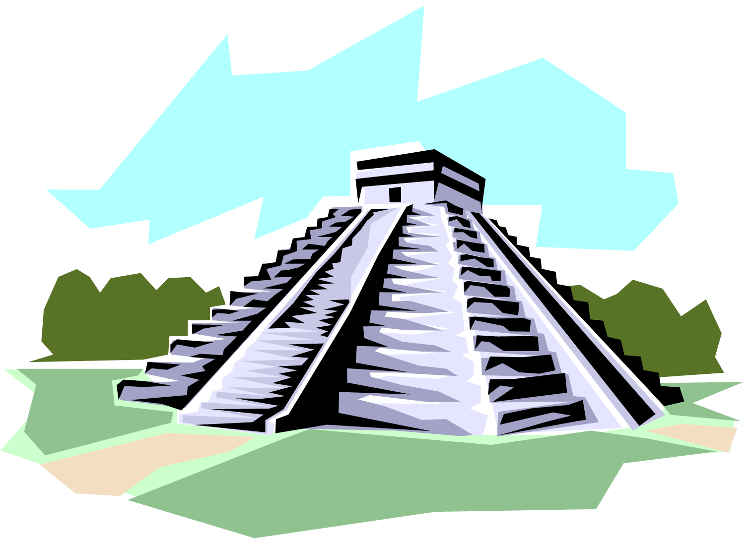 Mayan Civilization Coloring Pages