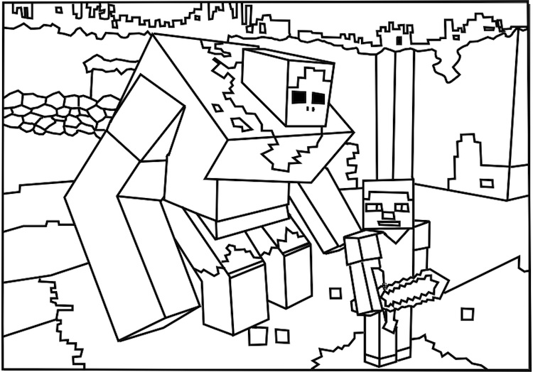 download minecraft coloring pages for kids 11 print - Minecraft Printable Coloring Pages