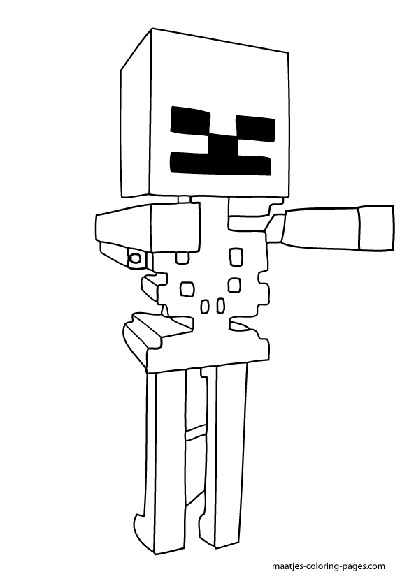 Download Minecraft Coloring Pages