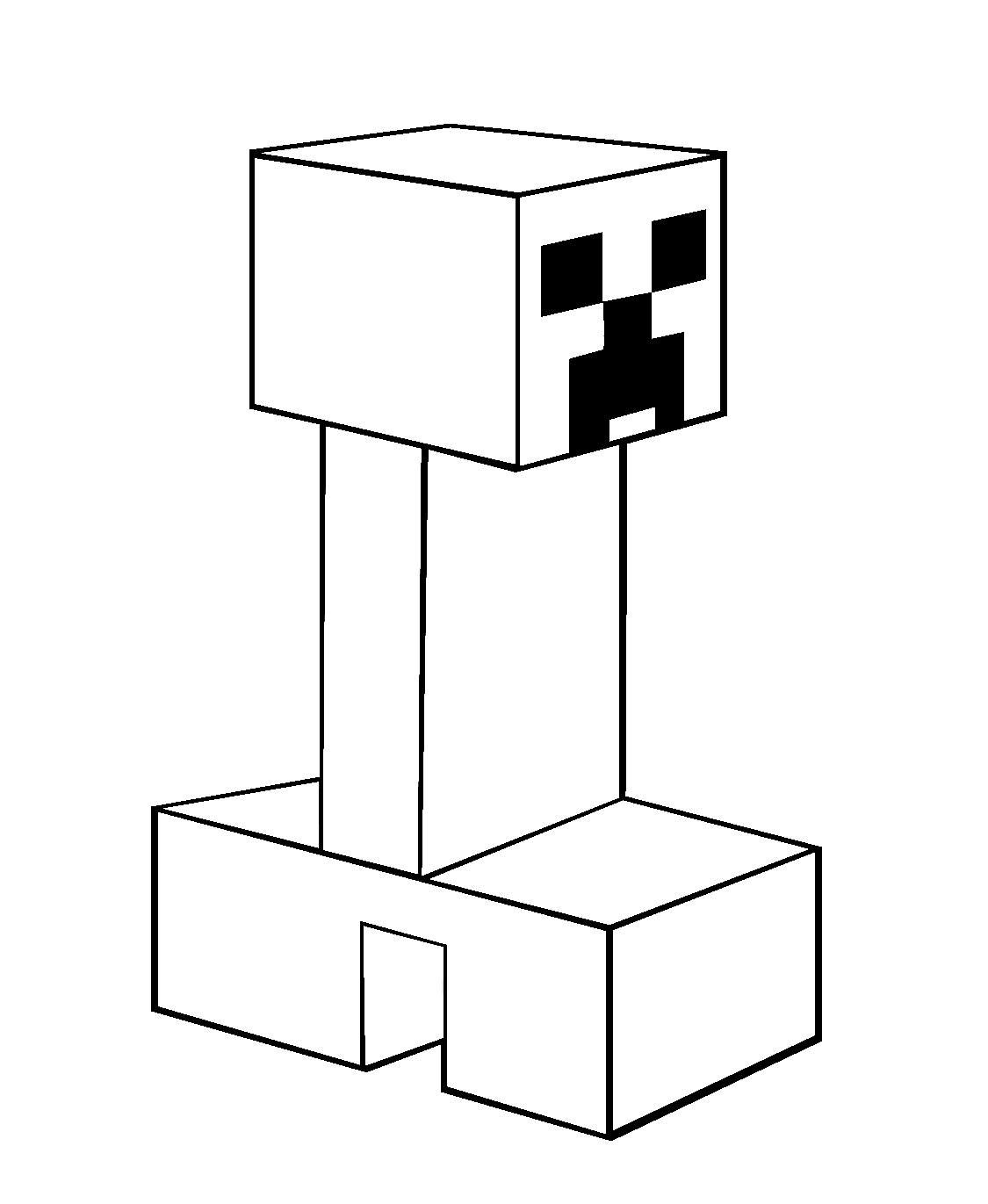 minecraft creeper coloring pages coloring kids