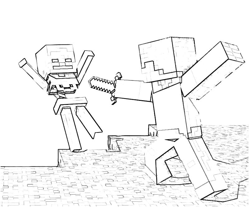 download another minecraft coloring pages - Minecraft Coloring Pages Free