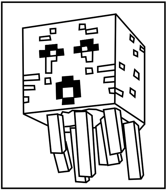 Minecraft Ghast Coloring Kids Printable Minecraft Coloring Pages