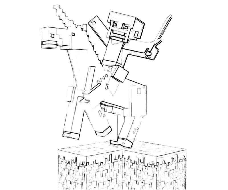 minecraft girl coloring pages - another minecraft coloring pages coloring kids