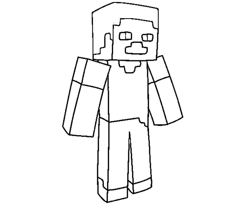 Minecraft Stampy Colouring Pages