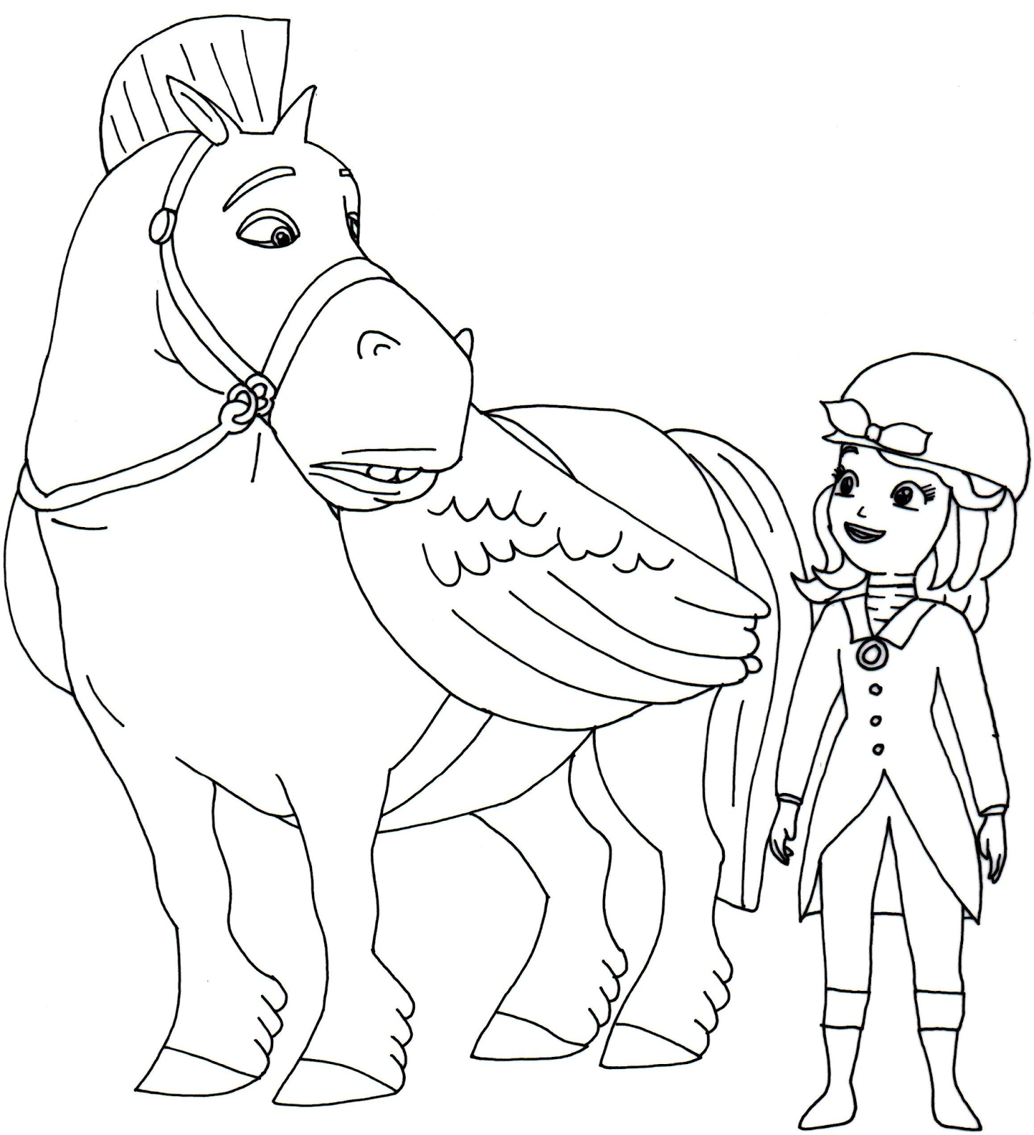 download minimus and sofia the first coloring page