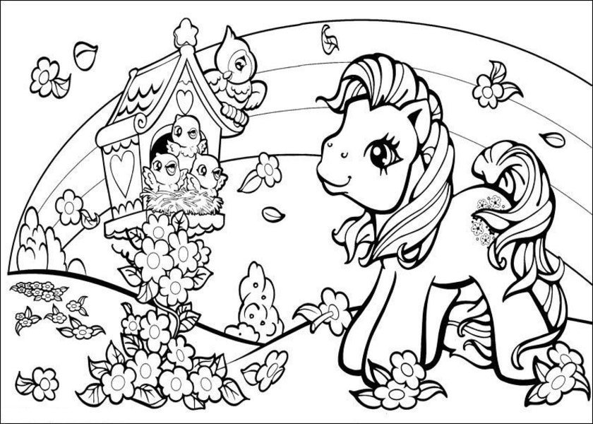 Mlp coloring kids for My little pony print out coloring pages