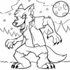 Monster Spooky Halloween Coloring Pages For Kids - Hallowen ...