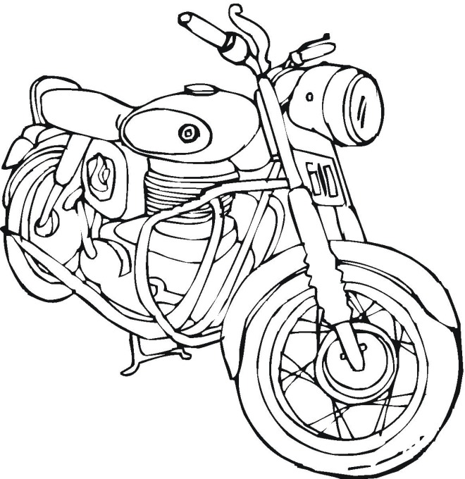 Motorcycle Coloring Pages (10) - Coloring Kids