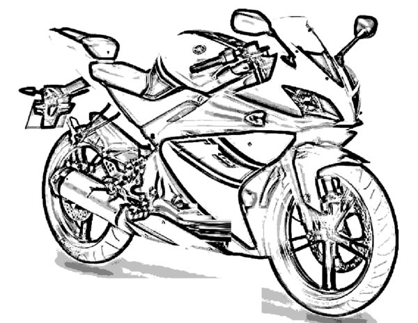 Motorcycle Coloring Pages (12) - Coloring Kids